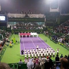 Photo taken at Khalifa International Tennis & Squash Complex by Alberto A. on 1/7/2012