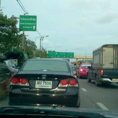 Photo taken at Prasert-Manukitch Road by Kittikhun R. on 6/7/2012