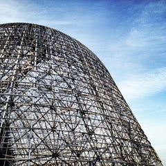 Photo taken at Hangar One (Building 1) by Kayvon T. on 4/10/2012