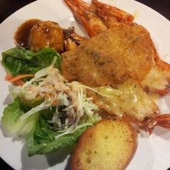 Photo taken at Kafe Sakae.西餐廳 by Kerry L. on 8/20/2012