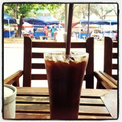 Photo taken at BonCafe, Luangprabang by Sayaka W. on 3/21/2012