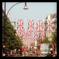 Photo taken at Oxford Circus by Richie J. on 5/24/2012