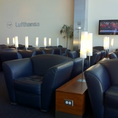 Photo taken at Lufthansa Business Lounge by Kevin M. on 3/4/2011