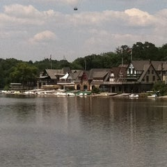 Photo taken at Boathouse Row by Richard V. on 7/3/2011