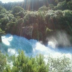 Photo taken at Huka Falls by Takuji Y. on 1/2/2012