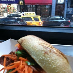 Photo taken at Num Pang Sandwich Shop by June S. on 11/5/2011