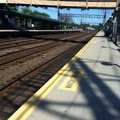 Photo taken at Metro North - Noroton Heights Train Station by Danny F. on 6/15/2012