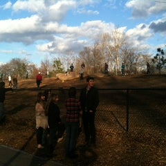 Photo taken at Piedmont Park Dog Park by Amanda P. on 12/30/2011