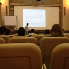 Photo taken at Boston University Morse Auditorium (BU Morse) by David M. on 3/20/2012