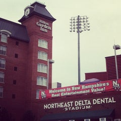 Photo taken at Northeast Delta Dental Stadium by Jason M. on 8/15/2012