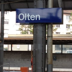 Photo taken at Bahnhof Olten by Adam R. on 5/15/2012