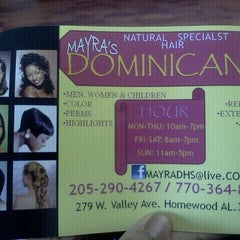 Photo taken at Dominican Hair Salon by Santana C. on 12/19/2011