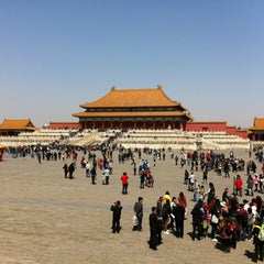 Photo taken at 故宫博物院 Forbidden City by Sally Y. on 4/5/2012