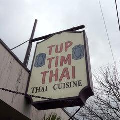 Photo taken at Tup Tim Thai by Felice L. on 3/30/2012