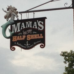 Photo taken at Mama's on the Half Shell by Myles H. on 8/5/2012