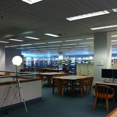 Photo taken at Snell Library by Totsaporn I. on 2/18/2012
