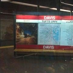 Photo taken at MBTA Davis Square Station by Jake S. on 12/1/2011