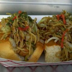 Photo taken at Dogzilla Hot Dogs Truck by Yumi S. on 5/18/2012