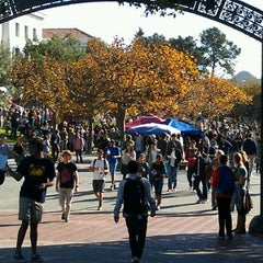 Photo taken at Sproul Plaza by Brendan M. on 11/15/2011