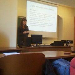 Photo taken at Vilniaus universiteto Filosofijos fakultetas by Edgaras L. on 10/18/2011