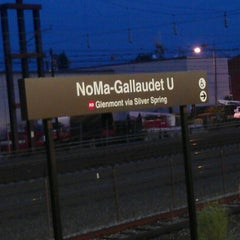 Photo taken at NoMa-Gallaudet U Metro Station by Stacy R. on 7/12/2012