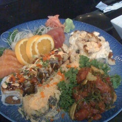 Photo taken at Blu Sushi by Amber C. on 2/19/2011