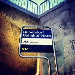 Photo taken at Bahnhof Dübendorf by Cesar M. on 2/13/2012
