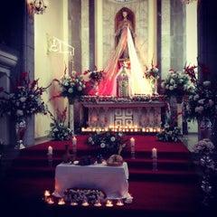 Photo taken at Iglesia Santa Eduvigis by Mónica S. on 4/6/2012