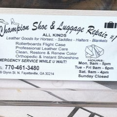 Photo taken at Champion Shoe Repair by Grant on 8/10/2011