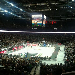 Photo taken at Žalgirio Arena | Zalgiris Arena by Rūta C. on 10/14/2011