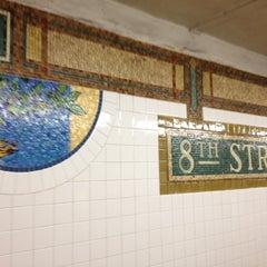 Photo taken at MTA Subway - 8th St/NYU (N/R) by Citlalic J. on 4/6/2012