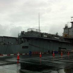 Photo taken at เรือหลวงจักรีนฤเบศร (HTMS Chakri Naruebet) by L Jeab V. on 9/11/2011