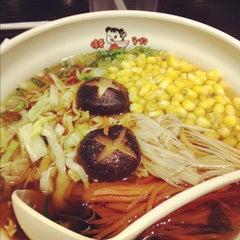 Photo taken at Ajisen Ramen by Amanda D. on 3/10/2012