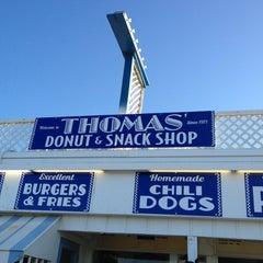 Photo taken at Thomas Donut & Snack Shop by Lynne J. on 4/7/2012