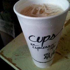 Photo taken at Cups, an Espresso Café by Michael K. on 2/1/2012