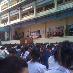 Photo taken at โรงเรียนสตรีวัดมหาพฤฒาราม (Mahaprutaram Girls' School) by Janie P. on 1/14/2011