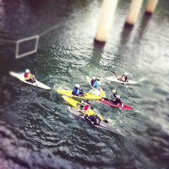 Photo taken at Lady Bird Lake Under Mopac Bridge by Will F. on 11/6/2011