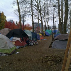 Photo taken at Occupy Seattle by Rand F. on 12/8/2011