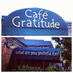 Photo taken at Café Gratitude by Kent O. on 7/7/2012