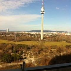 Photo taken at Donauturm by Sebastian H. on 2/12/2011