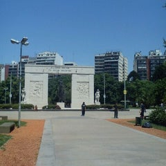 Photo taken at Parque Rivadavia by Virginia H. on 11/15/2011