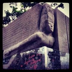 Photo taken at Tombe d'Oscar Wilde by Aleksandra N. on 6/24/2012