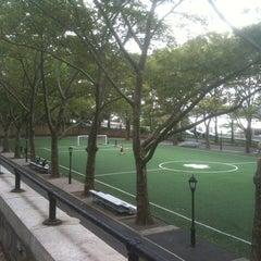 Photo taken at 101 Street Soccer Field by Sean H. on 9/10/2011