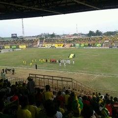 Photo taken at Stadion Kota Batik by Anwarudin P. on 6/9/2012