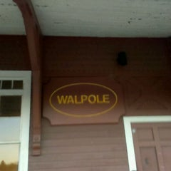 Photo taken at Walpole Train Station by Ashlee M. on 11/18/2011