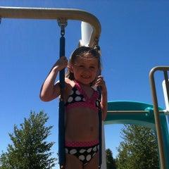 Photo taken at Lake Skinner Splash Pad by Kim M. on 8/5/2011