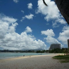 Photo taken at Ypao Beach Park by Takeshi O. on 5/6/2012