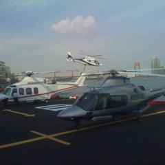 Photo taken at East 34th Street Heliport (TSS) by Jeffrey D. on 9/26/2011
