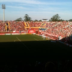 Photo taken at Estádio Arena Joinville by Julia S. on 8/4/2012