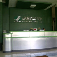 Photo taken at Jamsostek Office by Keumala P. on 11/7/2011